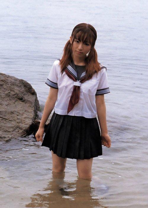 三次元 3次元 エロ画像 ずぶ濡れ 透け透け 女子校生 JK べっぴん娘通信 031