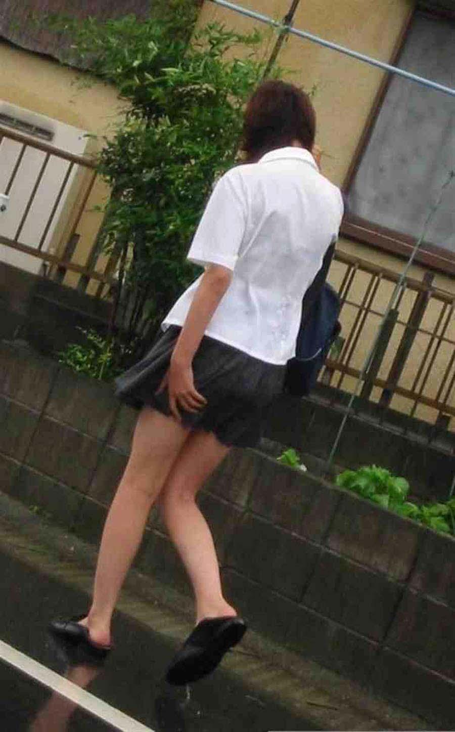 三次元 3次元 エロ画像 ずぶ濡れ 透け透け 女子校生 JK べっぴん娘通信 016