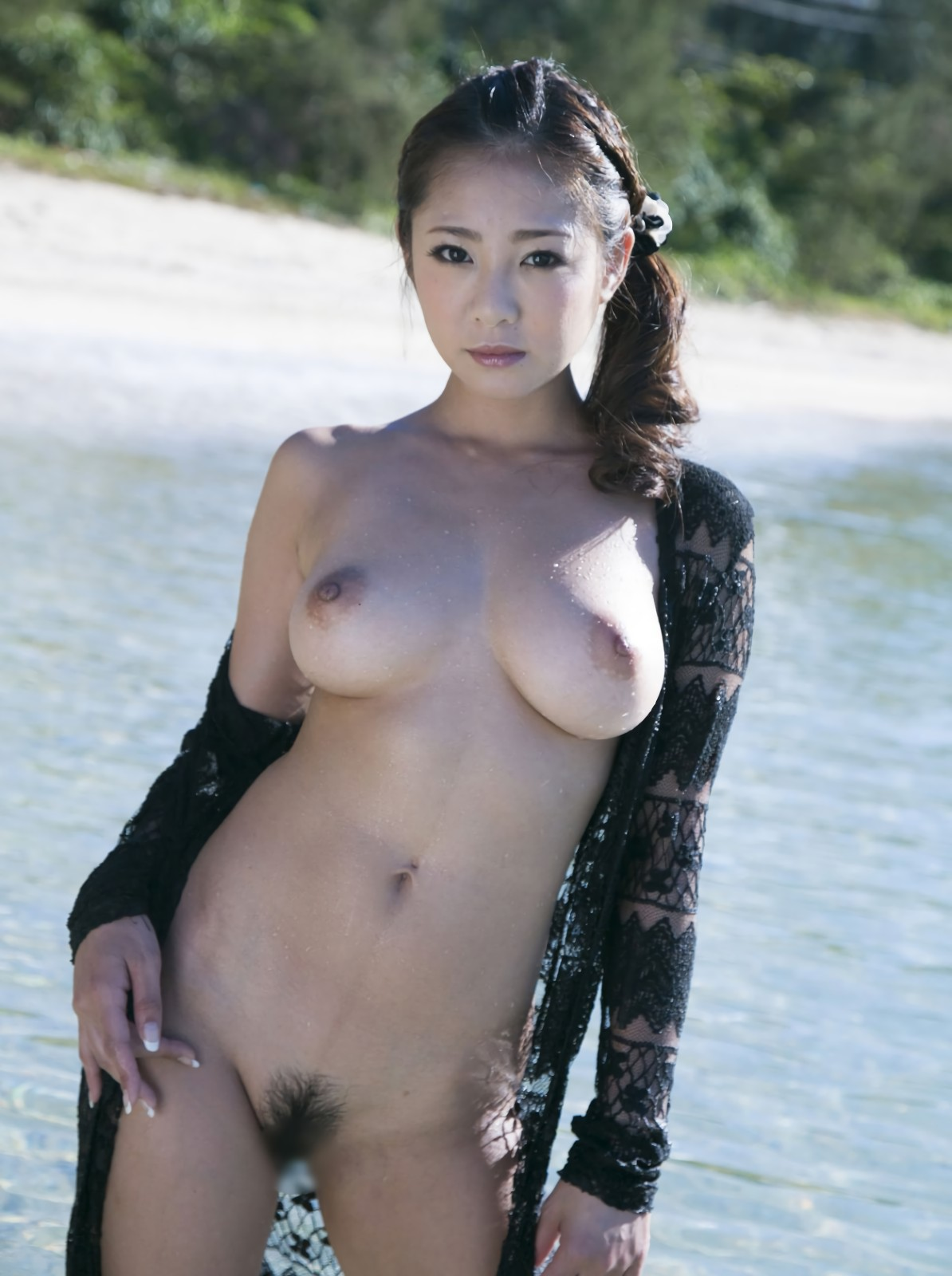 三次元 3次元 エロ画像 ビーチ ヌード 裸 野外 露出 羞恥  べっぴん娘通信 005