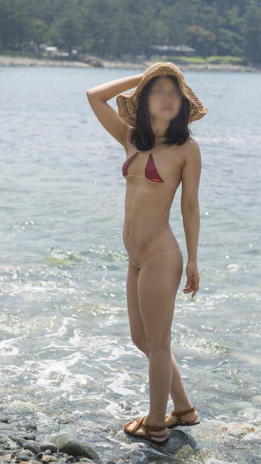 三次元 3次元 エロ画像 ビーチ ヌード 裸 野外 露出 羞恥  べっぴん娘通信 040