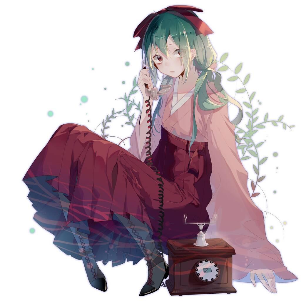 二次元 2次元 エロ画像 緑髪 べっぴん娘通信 014