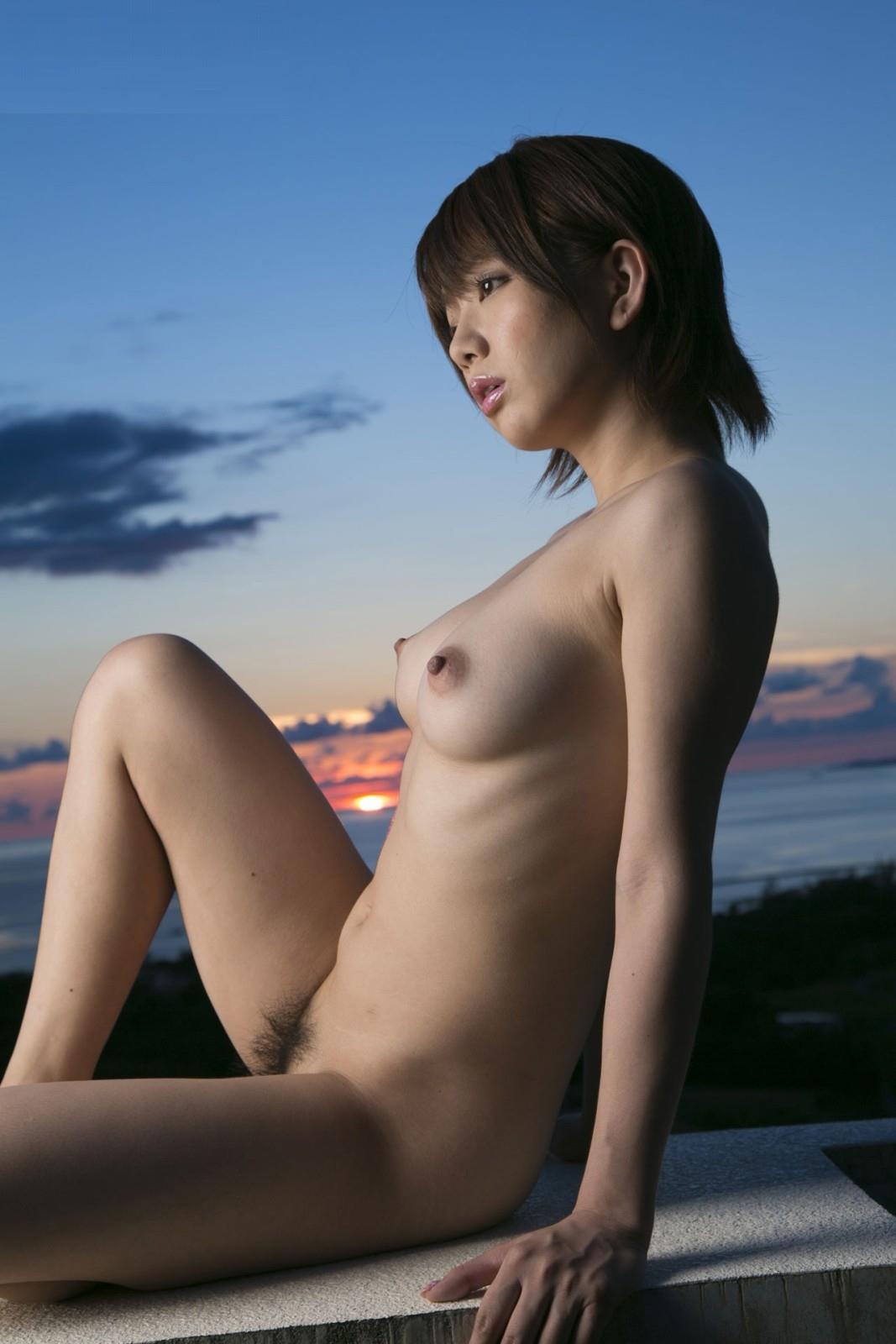 三次元 3次元 エロ画像 夕暮れ 夕陽 日没 ヌード べっぴん娘通信 002